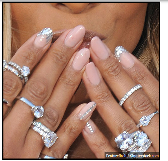 Ciara brandished pink-nude nails at the 2012 MTV Movie Awards at Universal Studios in Hollywood, CA on June 4, 2012.